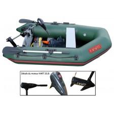 bateau gonflable hart tropper 270 moteur hart 32 lbs mat riel pour p che hart. Black Bedroom Furniture Sets. Home Design Ideas