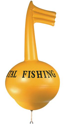 Vue 1) Bouée Kristal Fishing G/SR