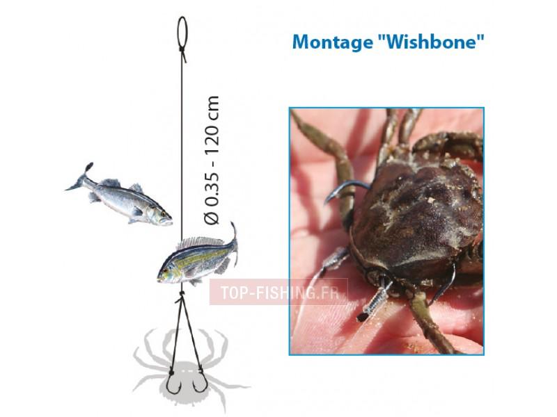 Vue 2) Bas de Ligne Flashmer Montage à Crabe