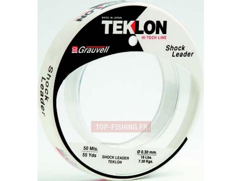 Vue 1) Bas de Ligne Teklon Shock Leader Trolling - 50 m