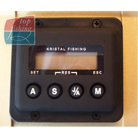 Vue 2) Moulinet électrique Kristal Fishing XL 648 DM