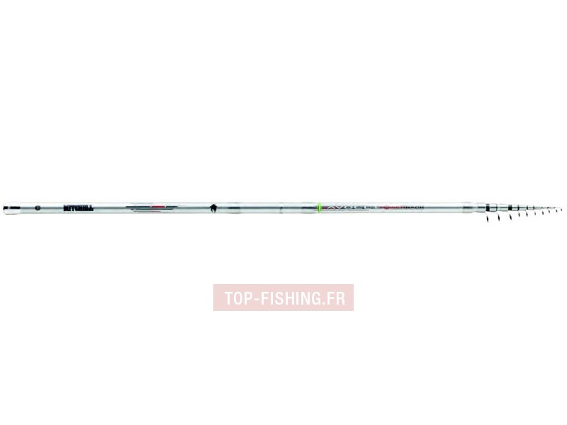 Vue 1) Canne Mitchell Avocet Powerback Bombard Travel