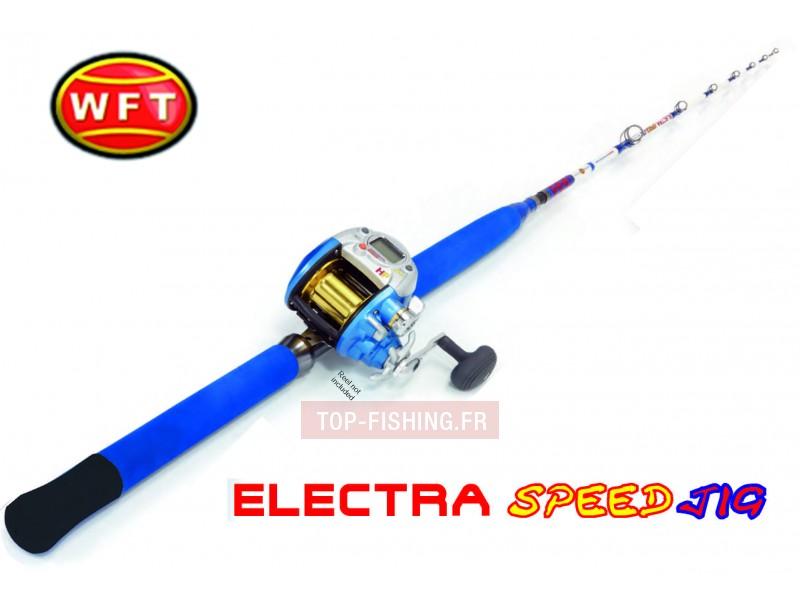 Vue 1) Canne WFT Electra Speed Jig