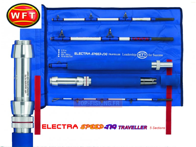 Vue 1) Canne WFT Electra Speed Jig Traveller