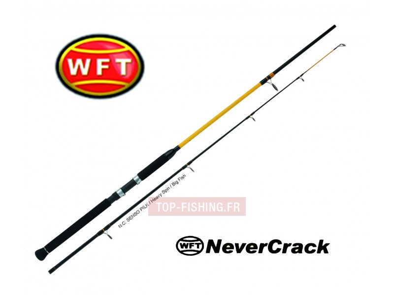 Vue 1) Canne WFT Never Crack Big Fish