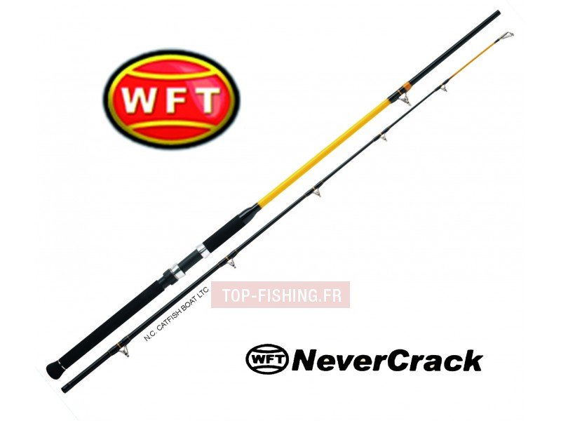 Vue 1) Canne WFT Never Crack Catfish Boat LTC