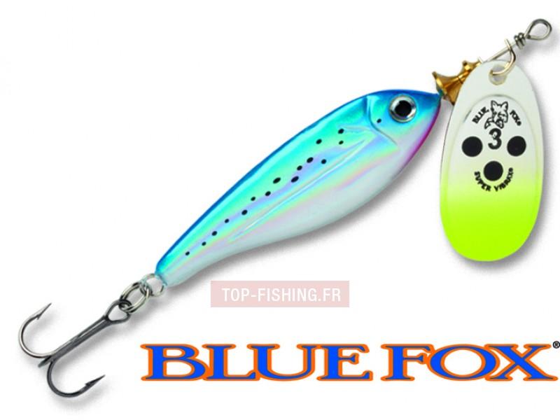 Vue 1) Cuiller Blue Fox Minnow Super Vibrax - 18 gr
