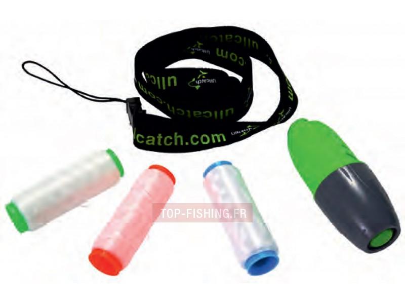 Vue 2) Distributeur Fil Elastique pour Appât Ullcatch WFT