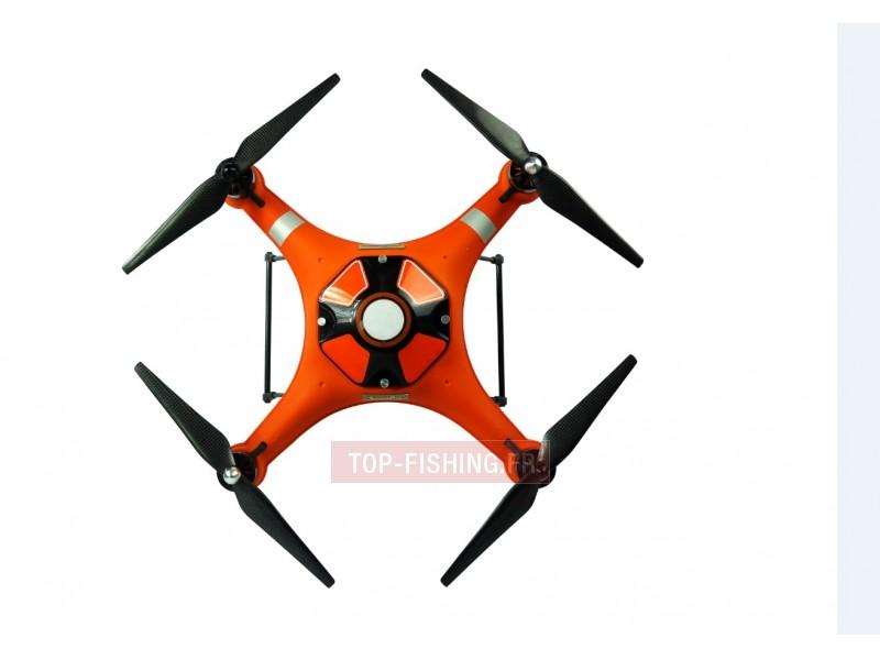 Vue 3) Drone Pêche Top Sea Splash