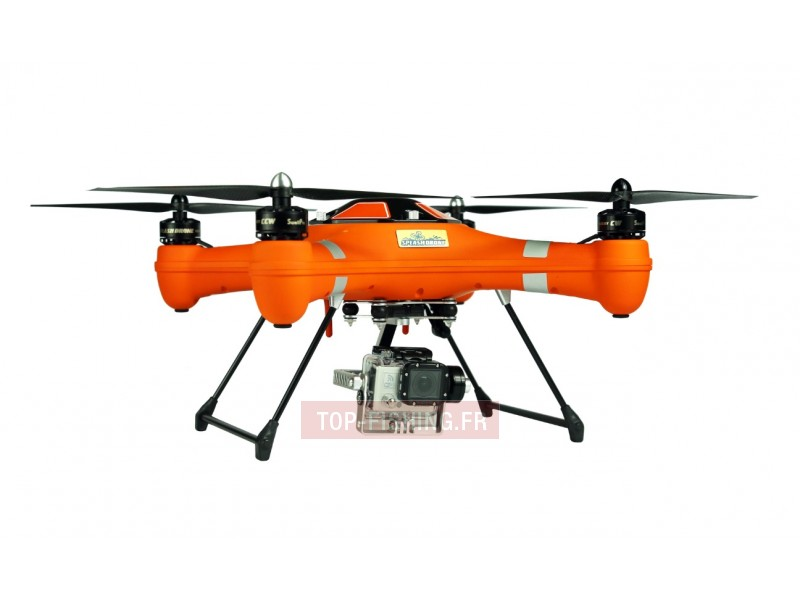 Vue 1) Drone Pêche Top Sea Splash
