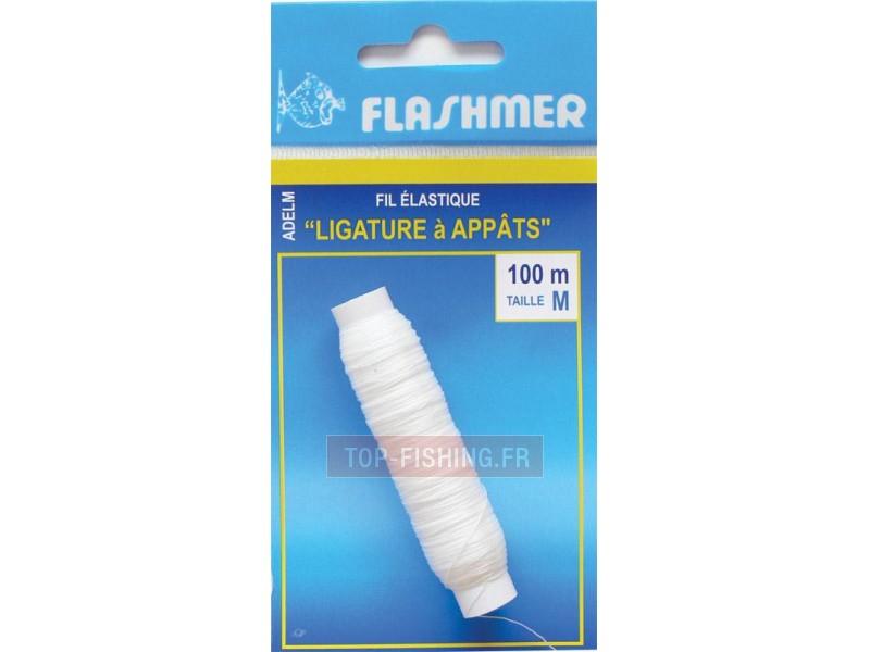 Vue 1) Elastique Ligature Appâts Flashmer