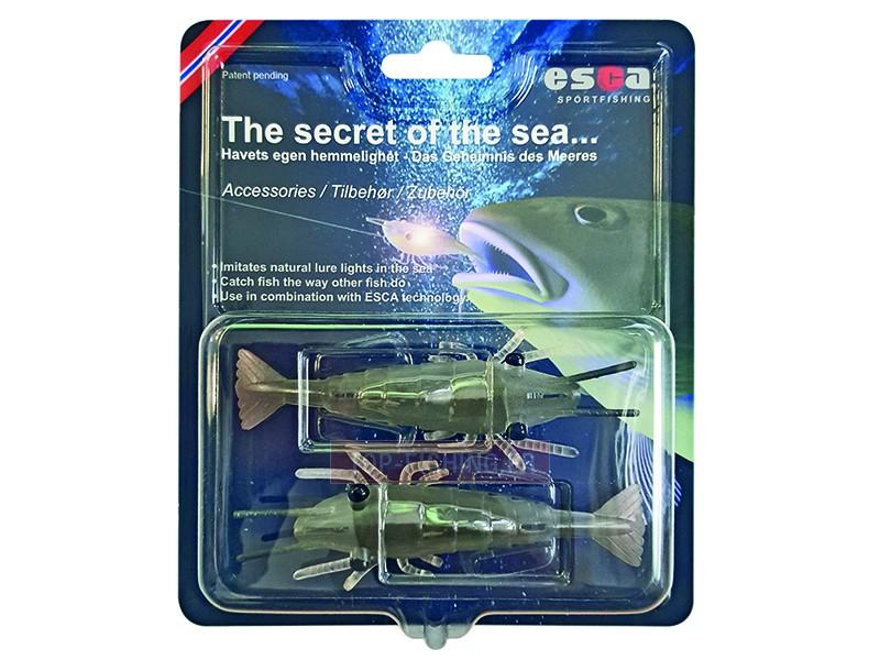 Vue 2) Shrimp pour leurre Esca