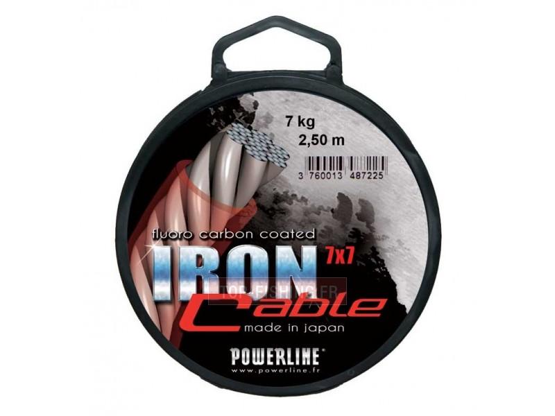 Vue 1) Fil d\'acier Powerline Iron Cable 2.5m