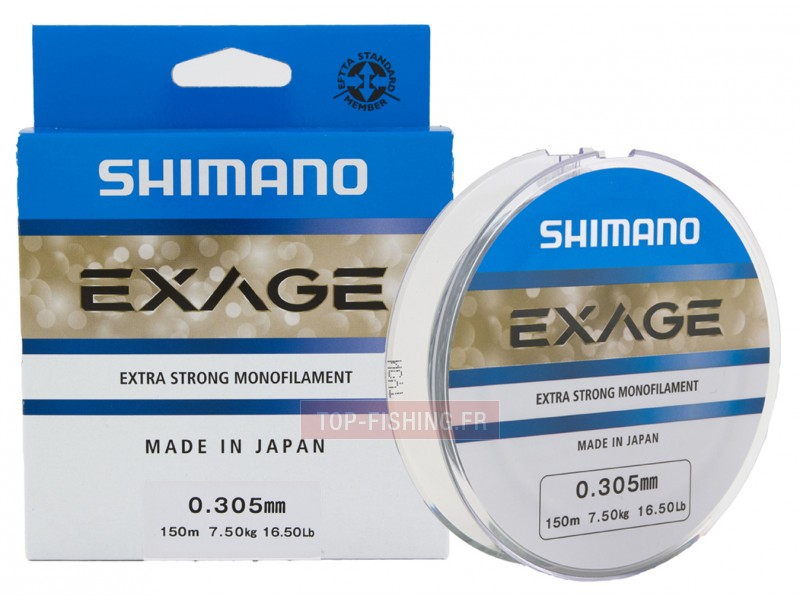 Vue 1) Fil Nylon Shimano Exage - 1000 m.