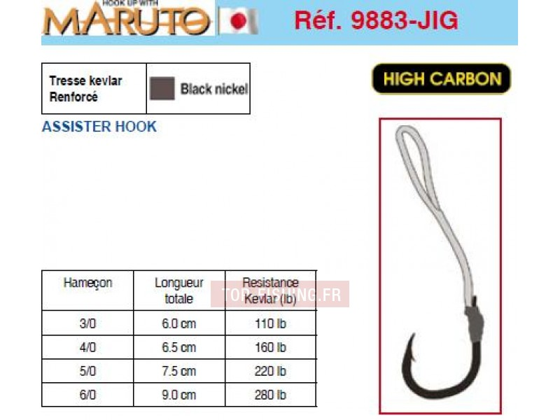 Vue 1) Hameçons MARUTO 9883 JIG