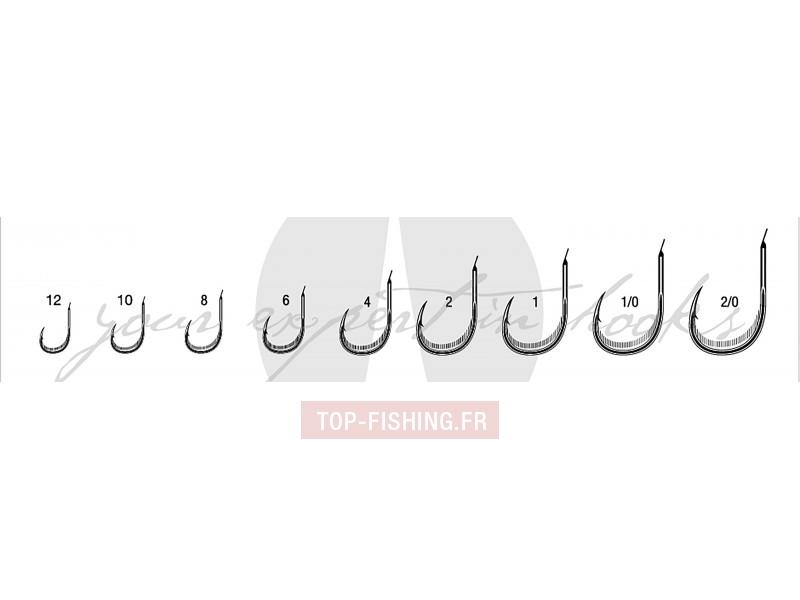 Vue 2) Hameçons Simples 7126 Chinu Palette VMC Black Nickel