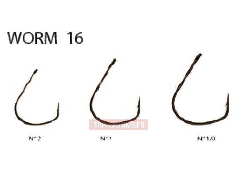Vue 1) Hameçon Decoy Worm 16