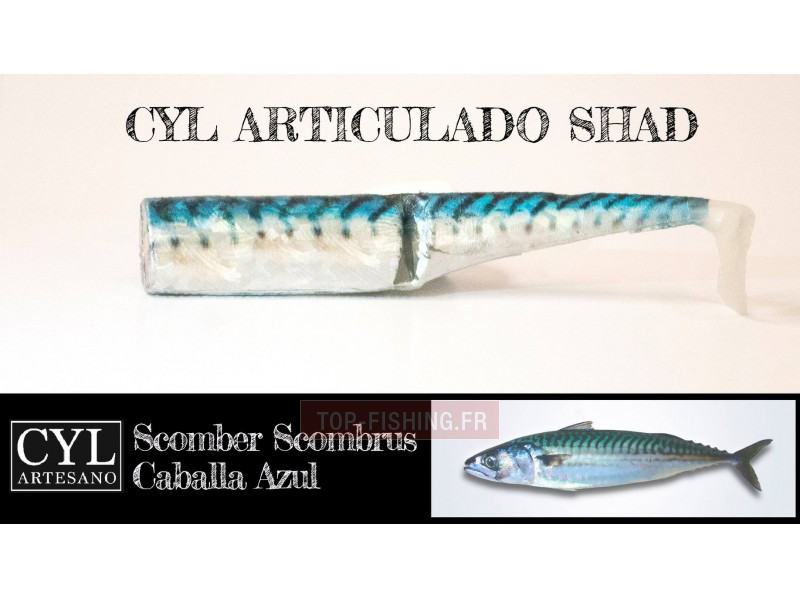 Vue 4) Leurre Cyl Artesano Articulado Shad 170mm