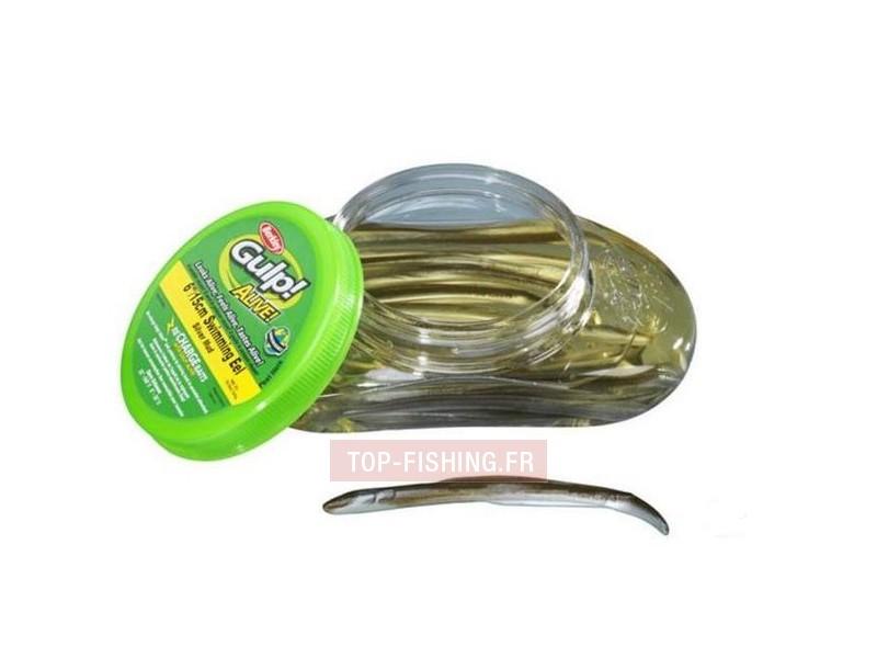 Vue 1) Leurre Berkley Gulp! Alive Eels - 20 cm