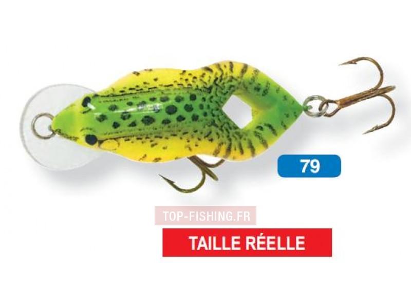 Vue 1) Leurre Rebel Teeny-Wee Frog - 3.8 cm