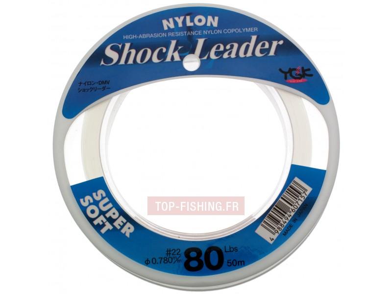 Vue 1) Monofil YGK Shock Leader - 50 m