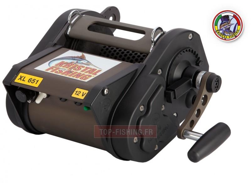 Vue 1) Moulinet électrique XL 651