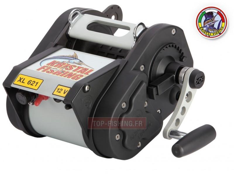 Vue 1) Moulinet électrique Kristal Fishing XL 621 SD