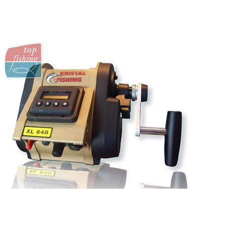 Vue 1) Moulinet électrique Kristal Fishing XL 648 DM