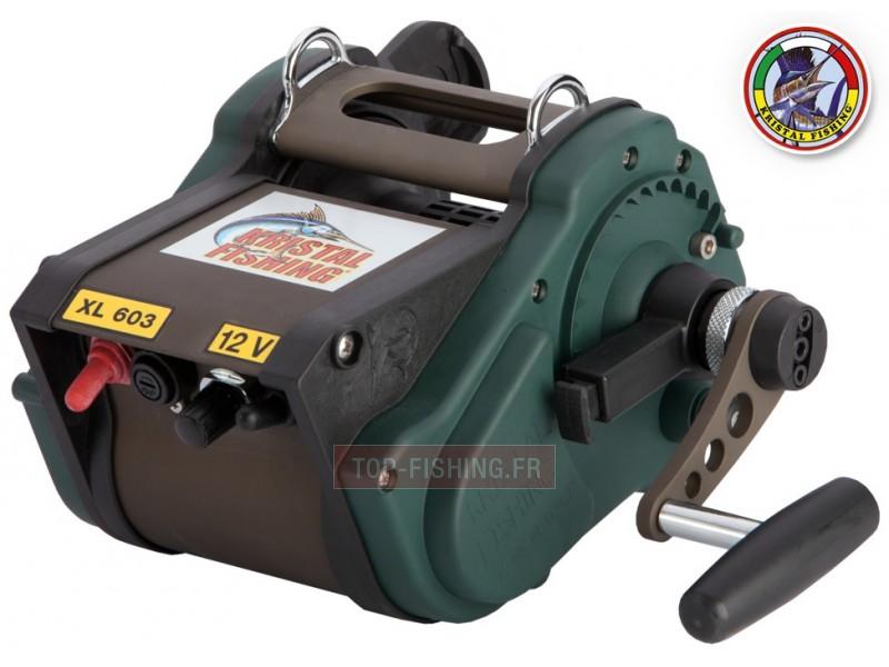 Vue 1) Moulinet électrique XL 603 Kristal fishing