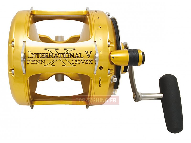 Vue 1) Moulinet Penn International V - VSX 2 Speeds