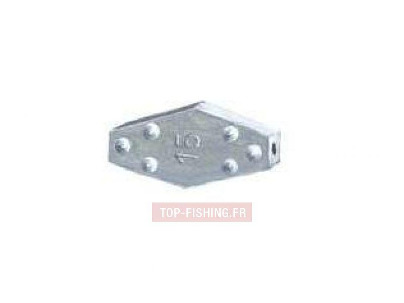 Vue 1) Plomb Hexagonal à crampons Haute Densité