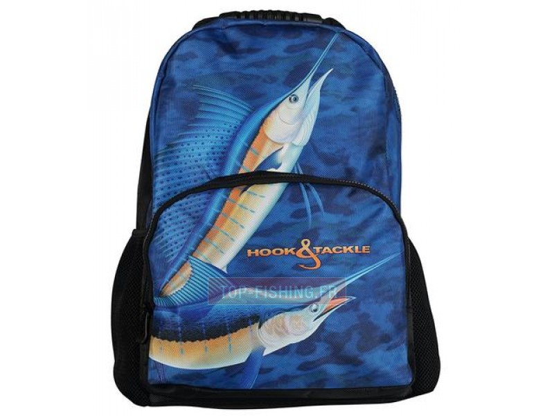 Vue 1) SAC A DOS HOOK & TACKLE BILLFISH
