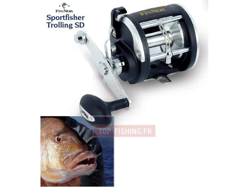 Vue 1) Moulinet Fin-Nor Sportfisher Trolling SD