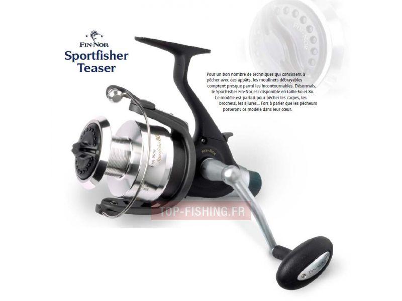 Vue 1) Moulinet Fin-Nor Sportfisher Teaser