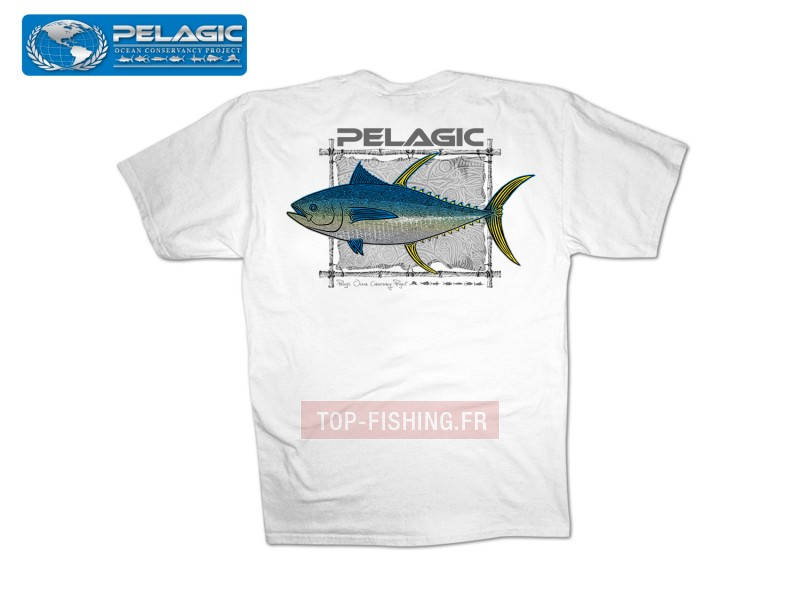 Vue 1) T-Shirt Pelagic OCP Tribal Ahi Tee