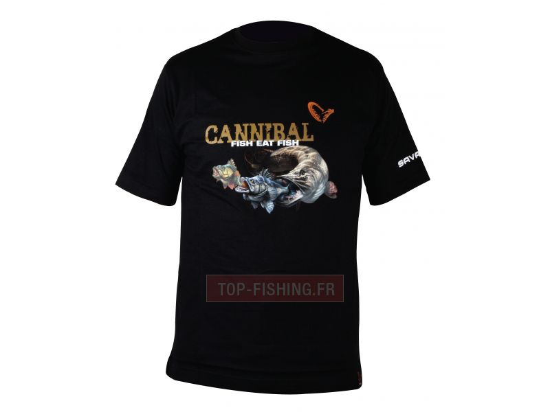 Vue 1) T-Shirt Savage Gear The Savage Cannibal