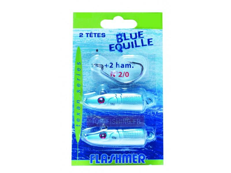 Vue 2) Tête Flashmer Blue Equille