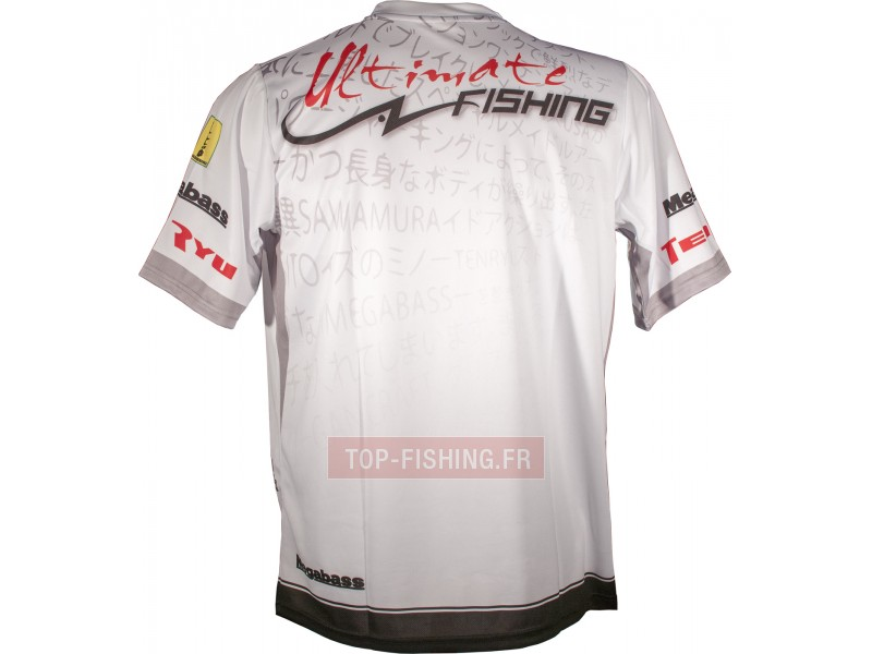 Vue 2) Tee Shirt Ultimate Fishing Competition Blanc