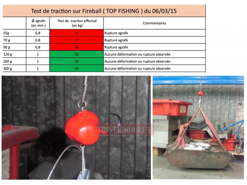 Vue 6) Tête Plombée Top Sea Fireball