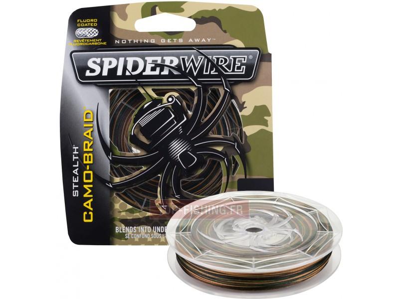 Vue 1) Tresse Spiderwire Stealth Camo - 110 m