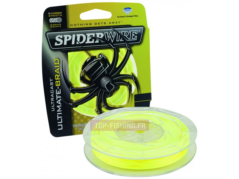 Vue 1) Tresse Spiderwire Ultracast 8 carriers Jaune - 1 800 m