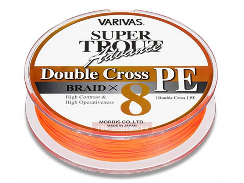 Vue 1) Tresse Varivas Double Cross Orange - 92 m