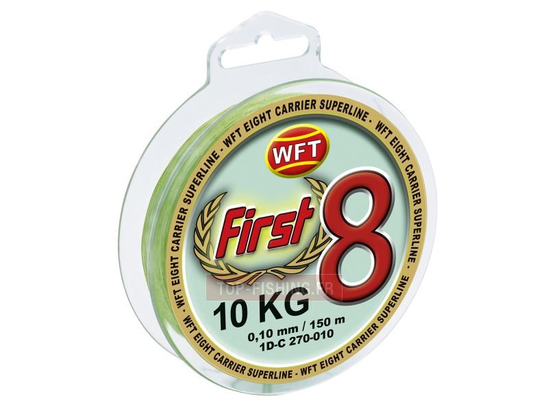 Vue 1) Tresse WFT First 8 Mint 300m