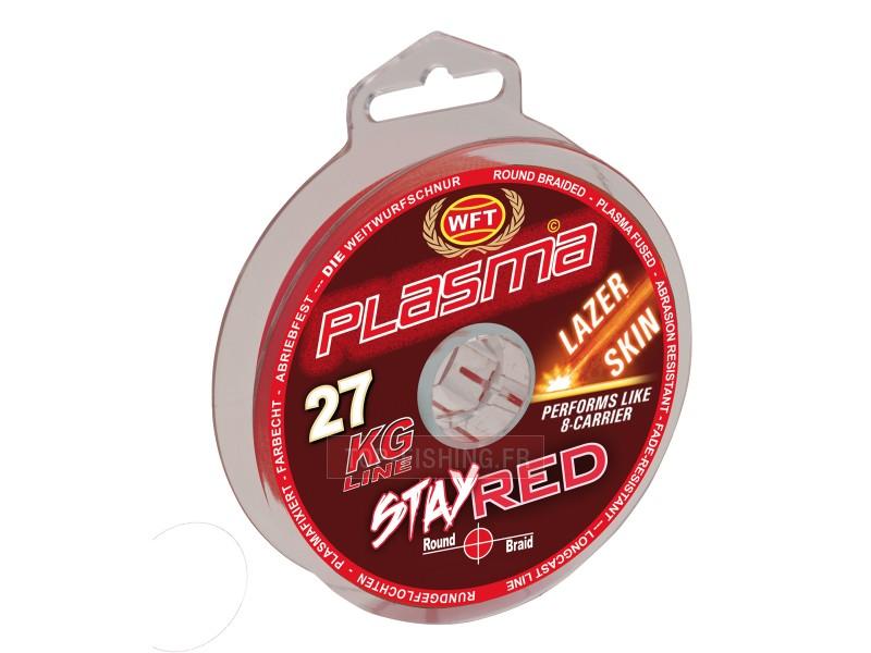 Vue 1) Tresse WFT Plasma Stay Red Lazer Skin 300m