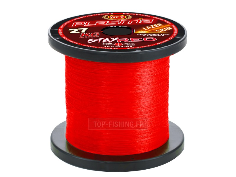 Vue 4) Tresse WFT Plasma Stay Red Lazer Skin 300m