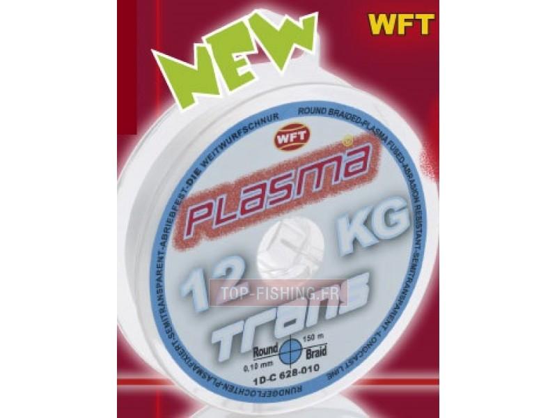 Vue 1) Tresse WFT Plasma Transparente 150m