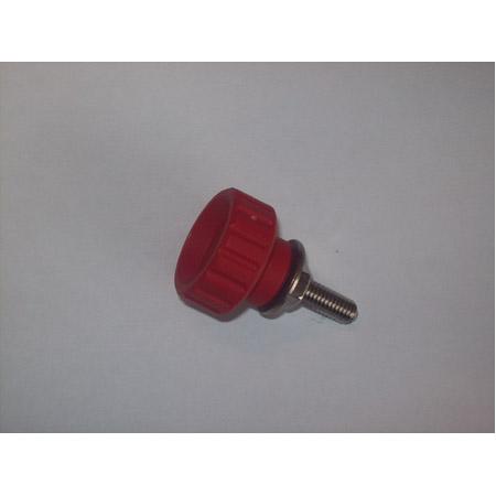 Vue 1) Vis rouge de sécurité bobine