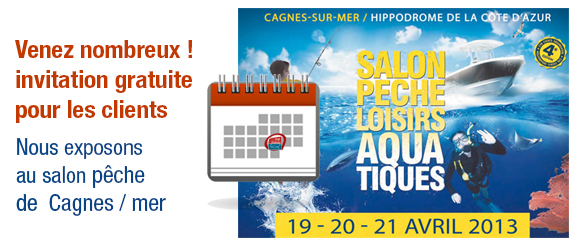 Salon Pêche Loisirs Cagnes sur Mer 2013