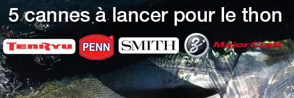 Sélection de Cannes à lancer pour la pêche au thon