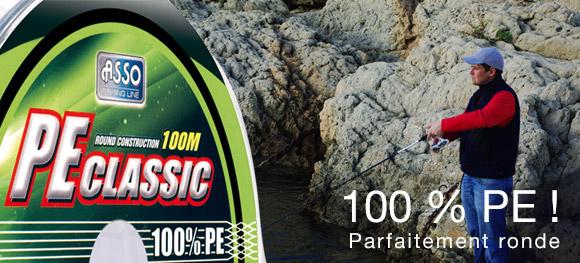 La tresse PE Classic Asso : 100 % PE ! Parfaitement ronde !